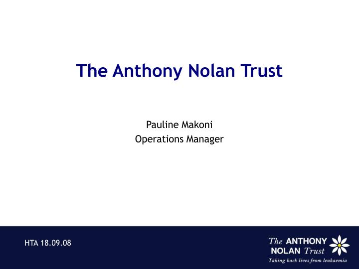 The Anthony Nolan Trust