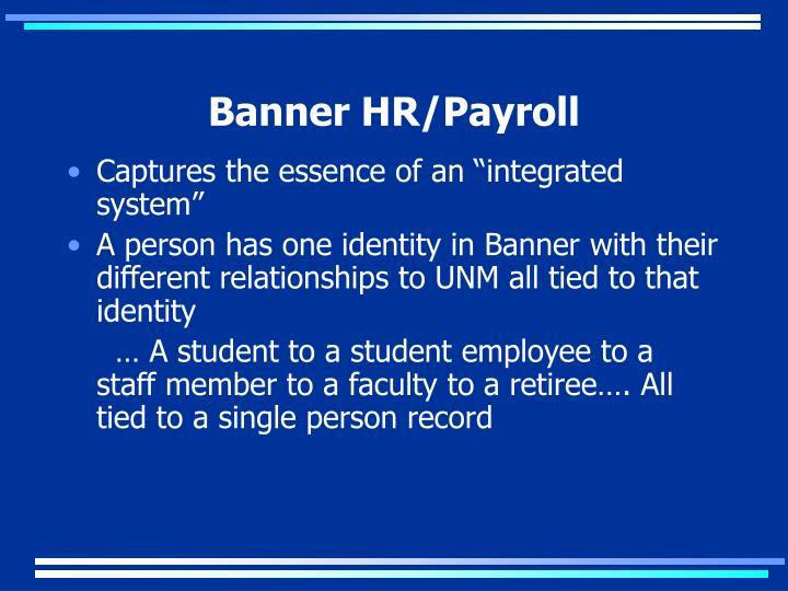 Banner HR/Payroll