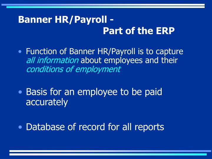 Banner HR/Payroll -