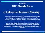 c enterprise resource planning