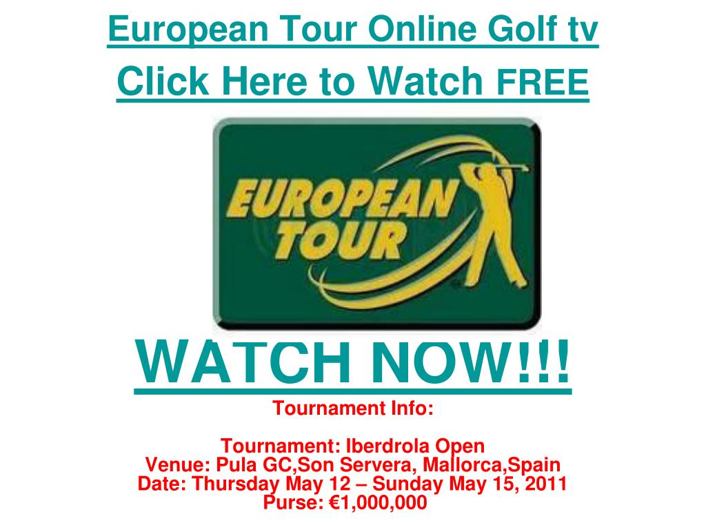 European Tour Online Golf tv