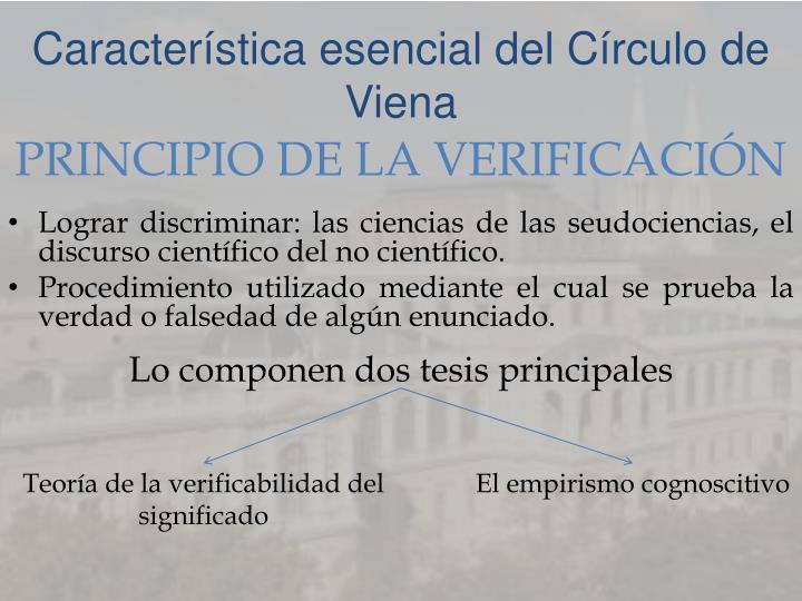 Característica esencial del Círculo de Viena
