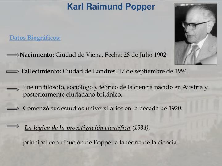 Karl Raimund Popper