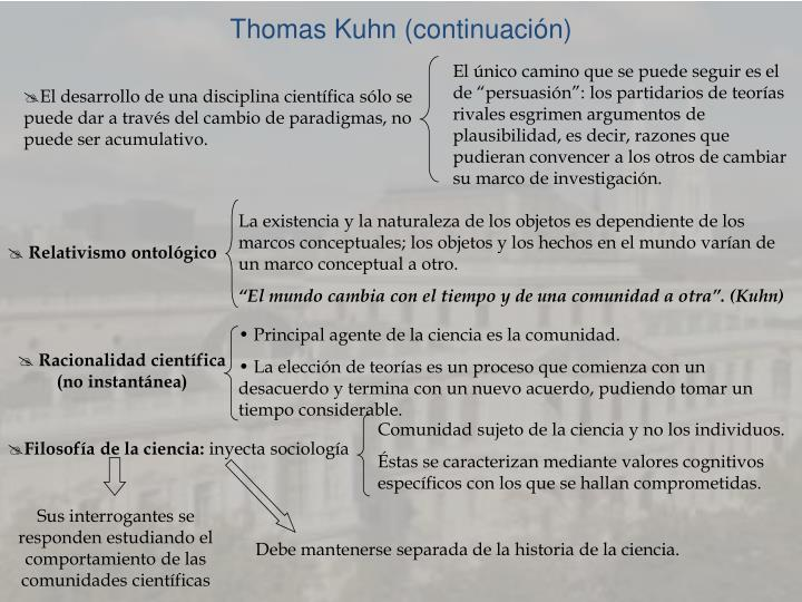 Thomas Kuhn (continuación)