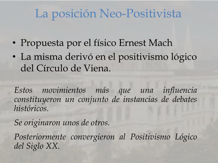 La posición Neo-Positivista