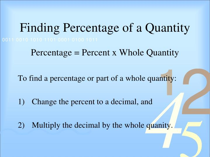 Finding Percentage of a Quantity