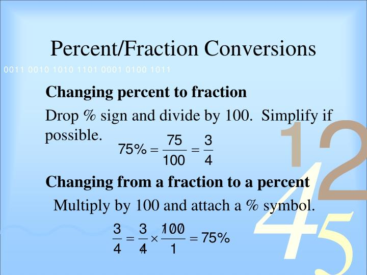 Percent/Fraction Conversions