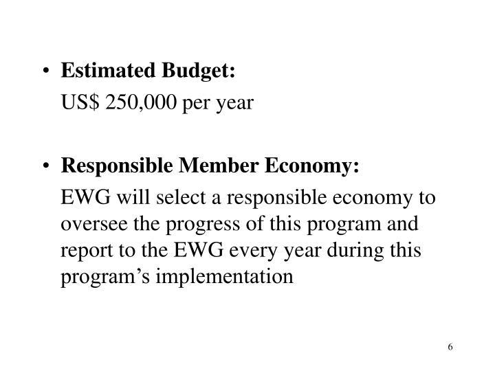 Estimated Budget: