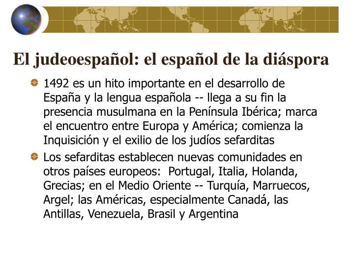 El judeoespañol: el español de la diáspora