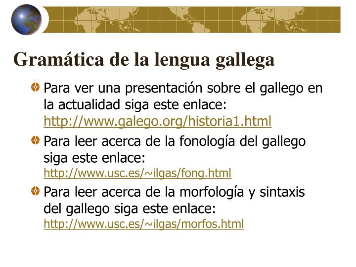 Gramática de la lengua gallega