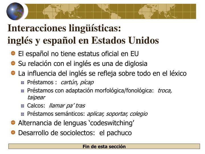 Interacciones lingüísticas: