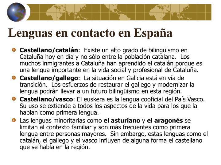 Lenguas en contacto en España