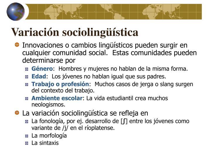 Variación sociolingüística