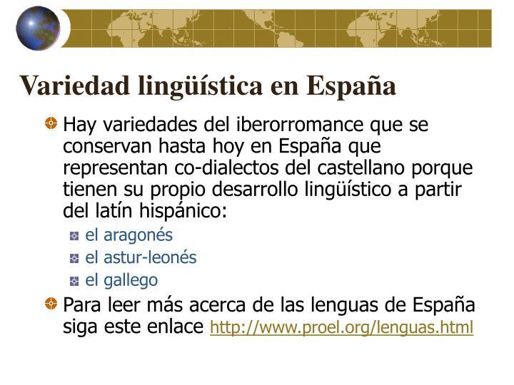 Variedad lingüística en España