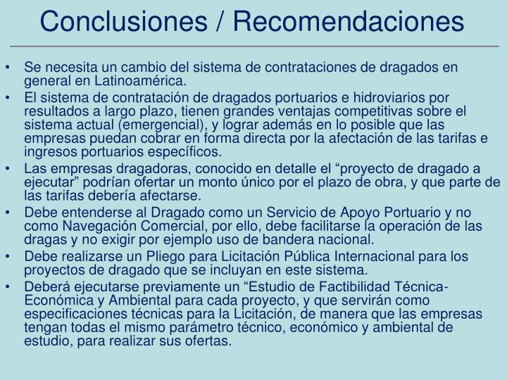 Conclusiones / Recomendaciones
