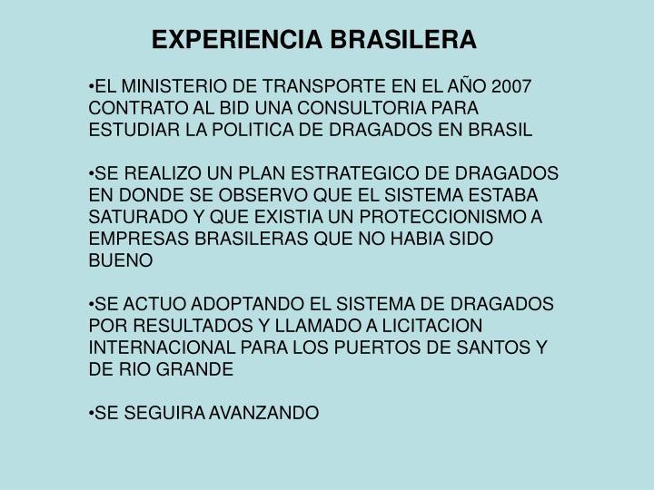 EXPERIENCIA BRASILERA