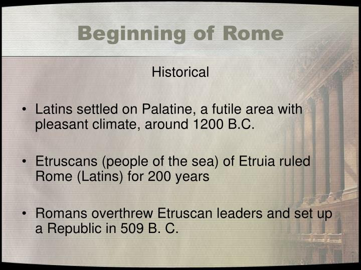 Beginning of Rome