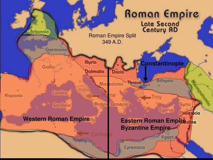 Roman Empire Split
