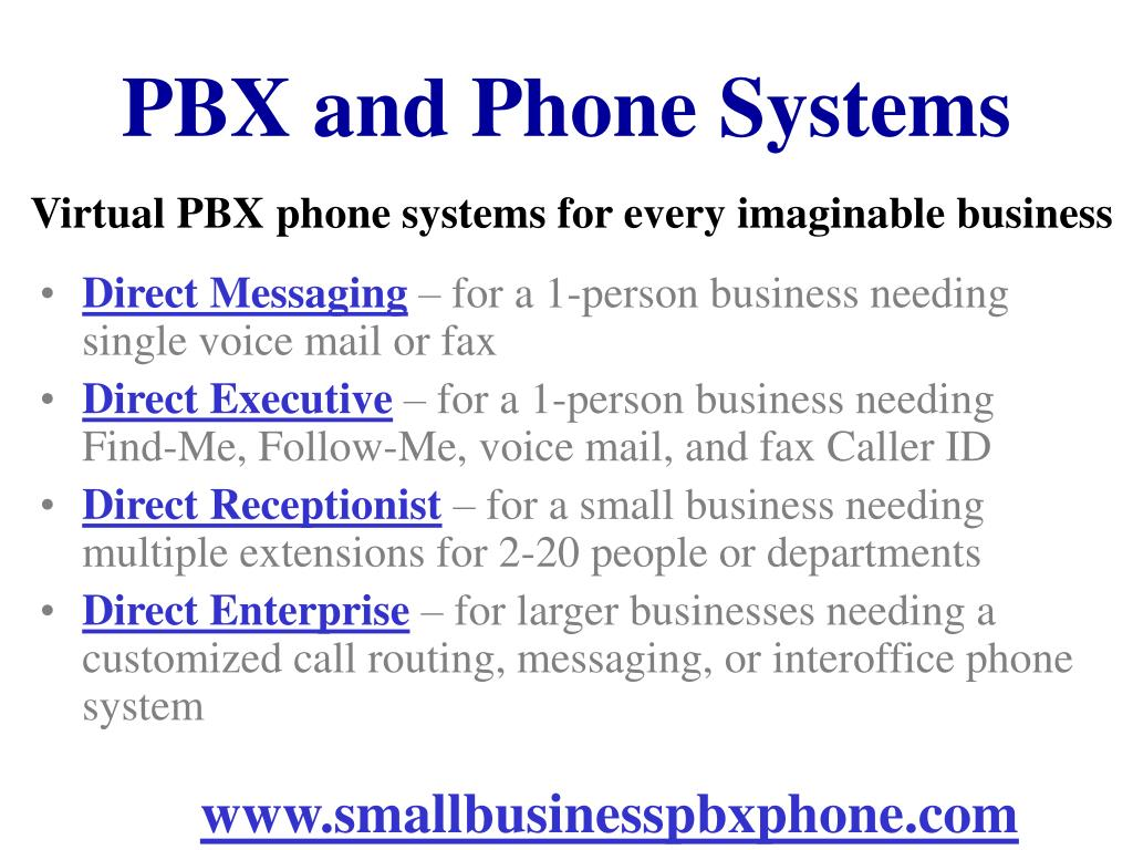 PBX and Phone Systems
