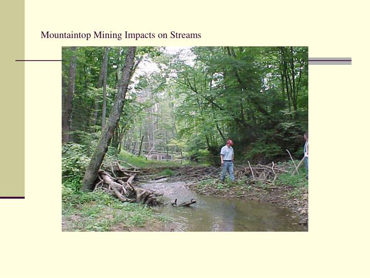 Mountaintop Mining Impacts on Streams