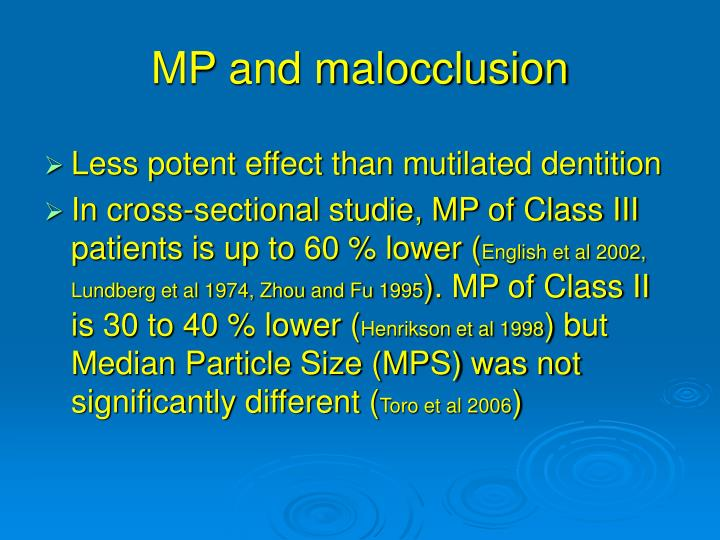MP and malocclusion