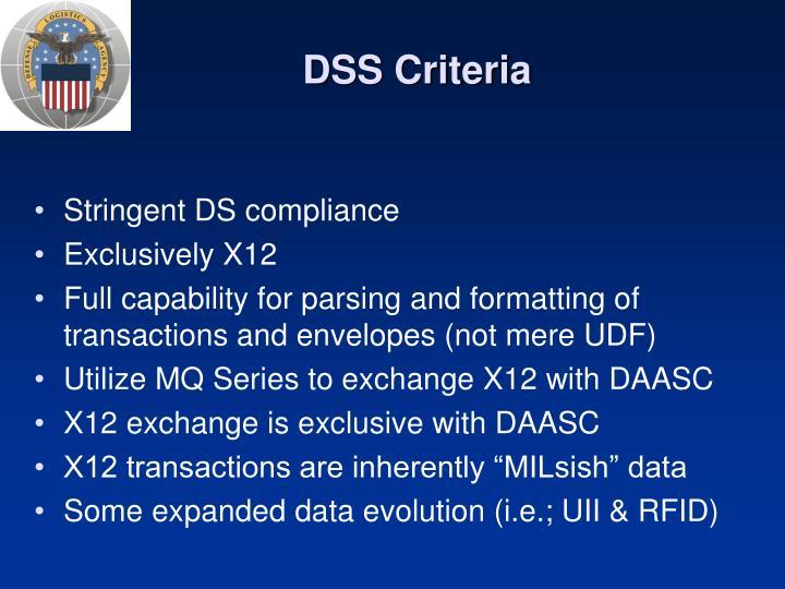 DSS Criteria