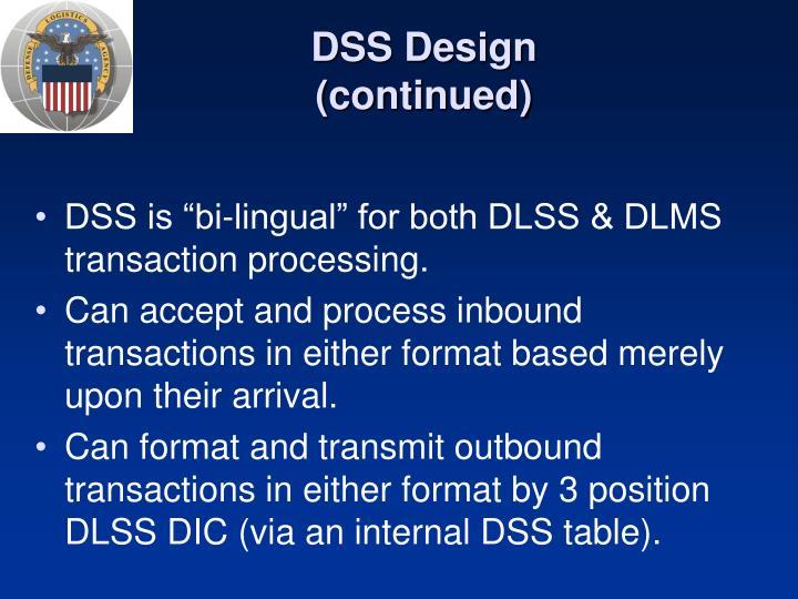 DSS Design