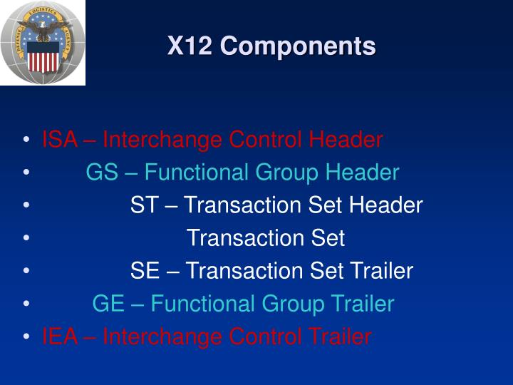 X12 components