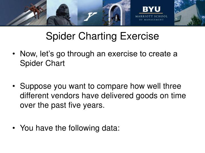 Spider Charting Exercise