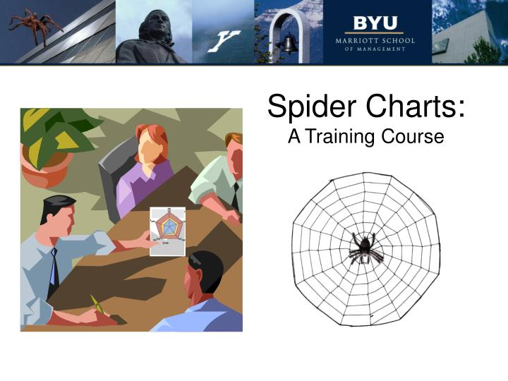 Spider charts a training course