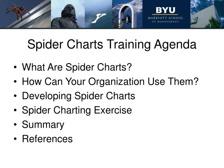 Spider charts training agenda