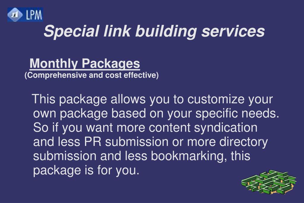 Special link building services