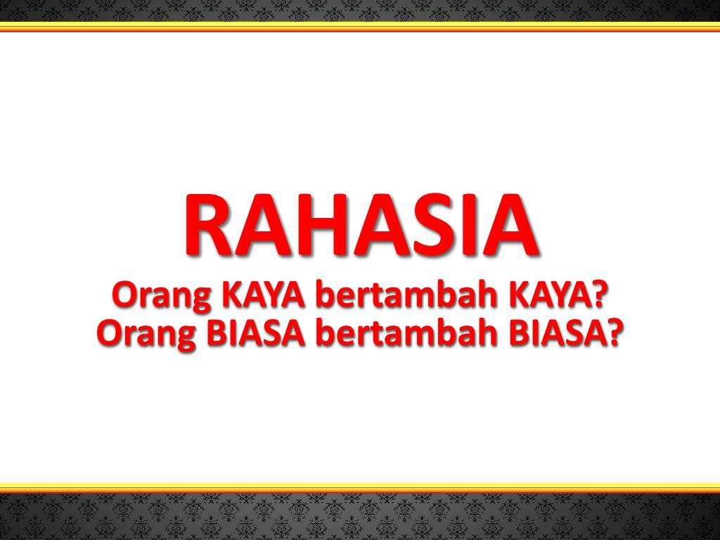 RAHASIA