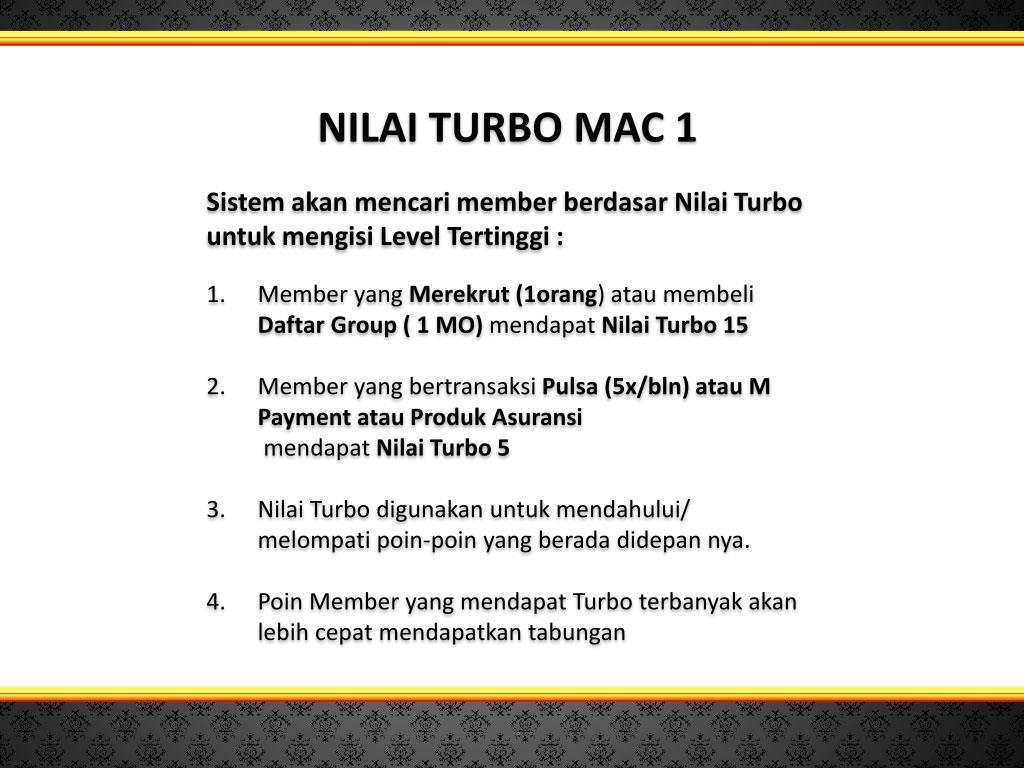 NILAI TURBO MAC 1