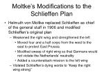 moltke s modifications to the schlieffen plan
