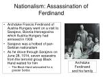 nationalism assassination of ferdinand