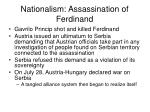 nationalism assassination of ferdinand1