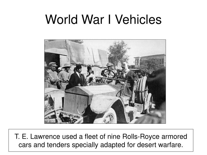 World War I Vehicles