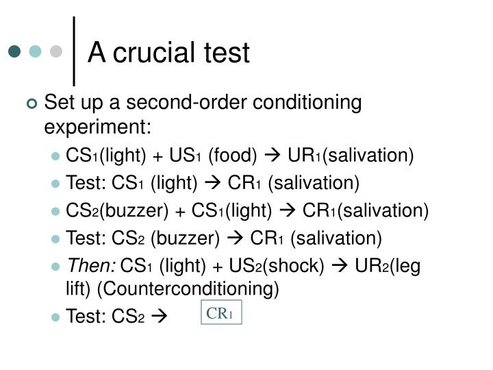 A crucial test