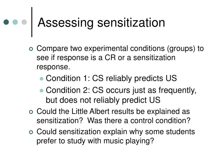 Assessing sensitization