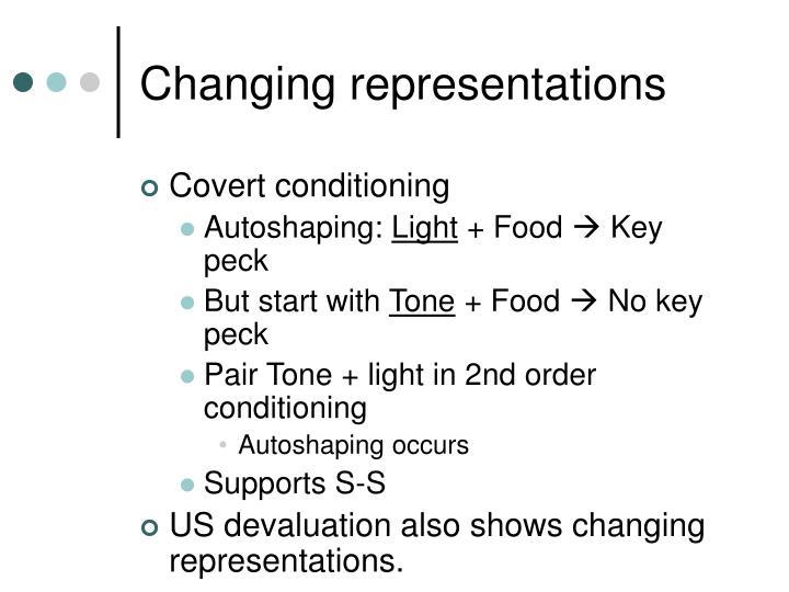 Changing representations