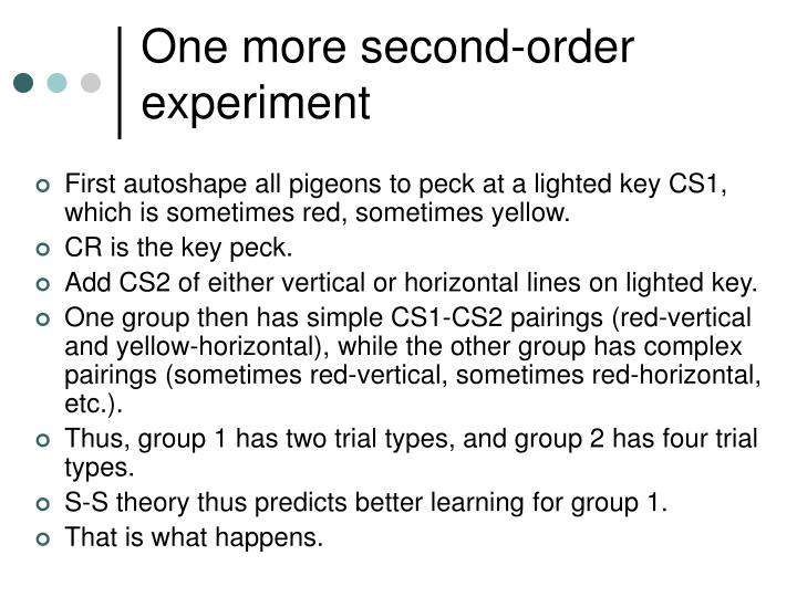 One more second-order experiment