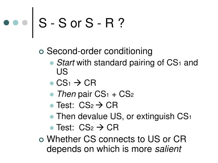 S - S or S - R ?