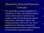 mutant ras structure function concepts