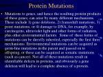 protein mutations