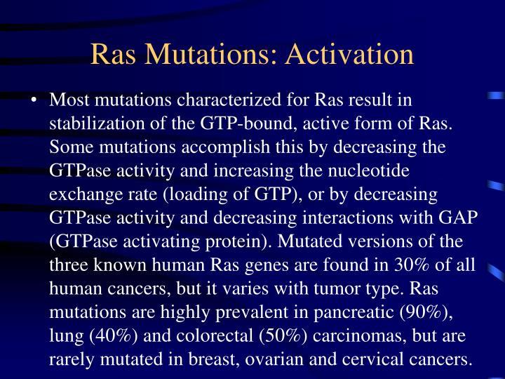Ras Mutations: Activation