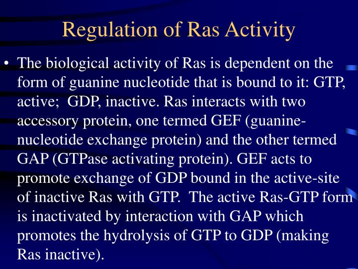 Regulation of Ras Activity