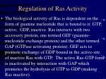 regulation of ras activity