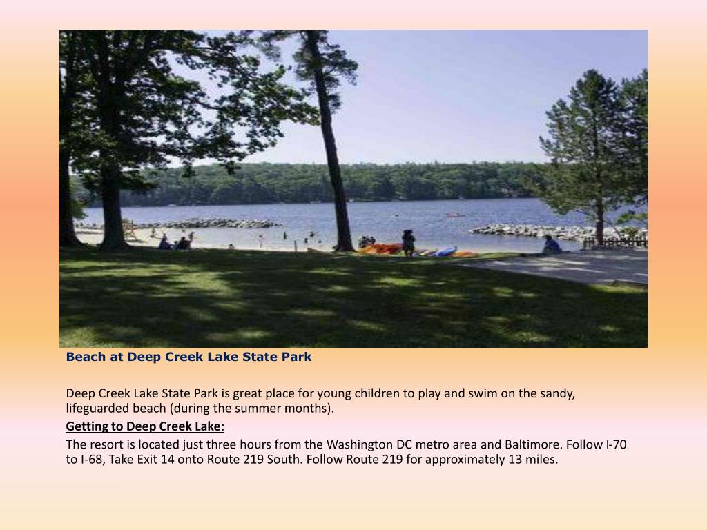 Beach at Deep Creek Lake State Park