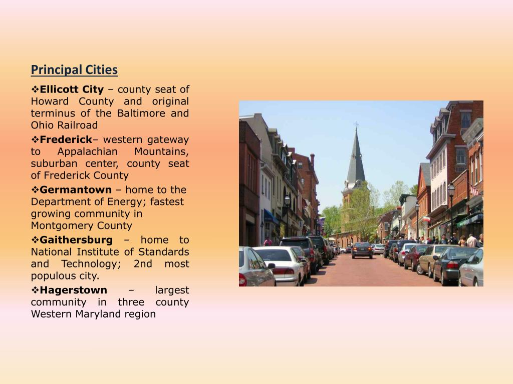 Principal Cities